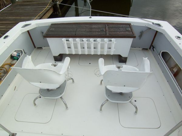 1972 Bertram Flybridge Cruiser - Looking Aft