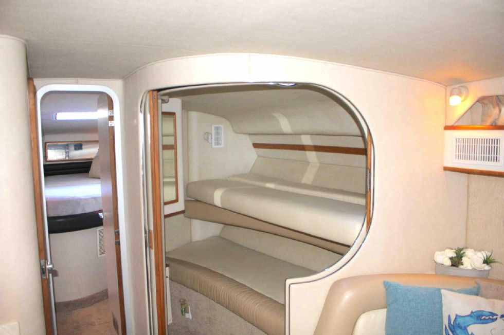 1994 Sea Ray 400 Express Cruiser - Guest Stateroom w/ bunks setup