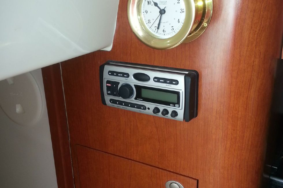 Ships Clock and Stereo