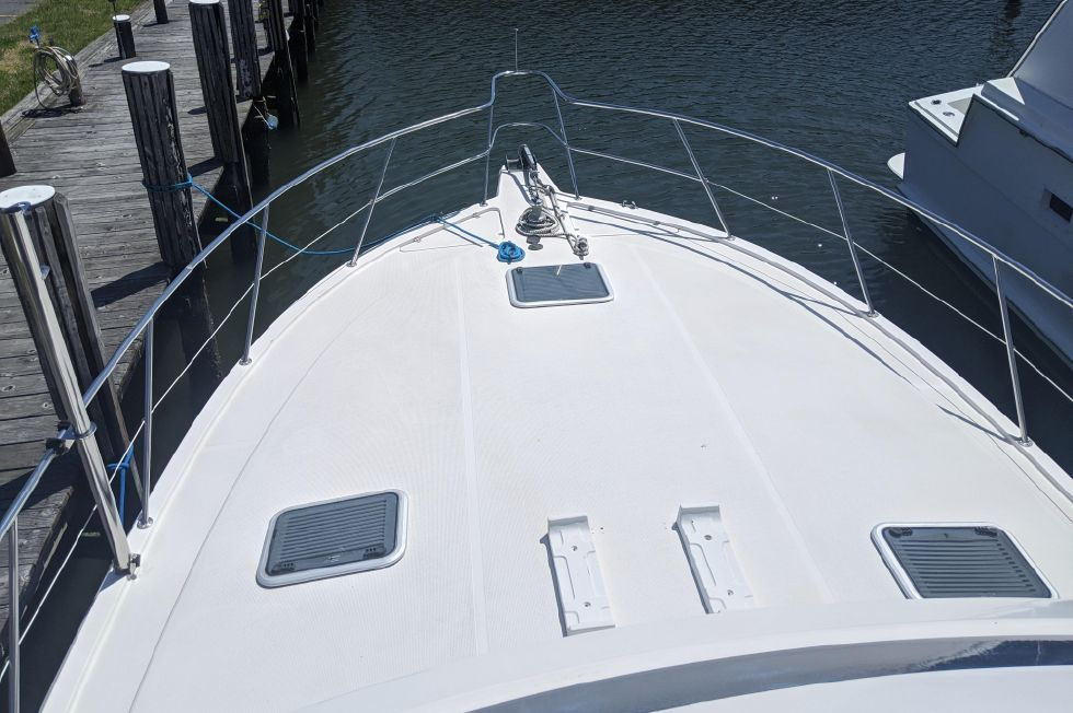 2000 Riviera Convertible - Bow with Windlass and Anchor Pulpit