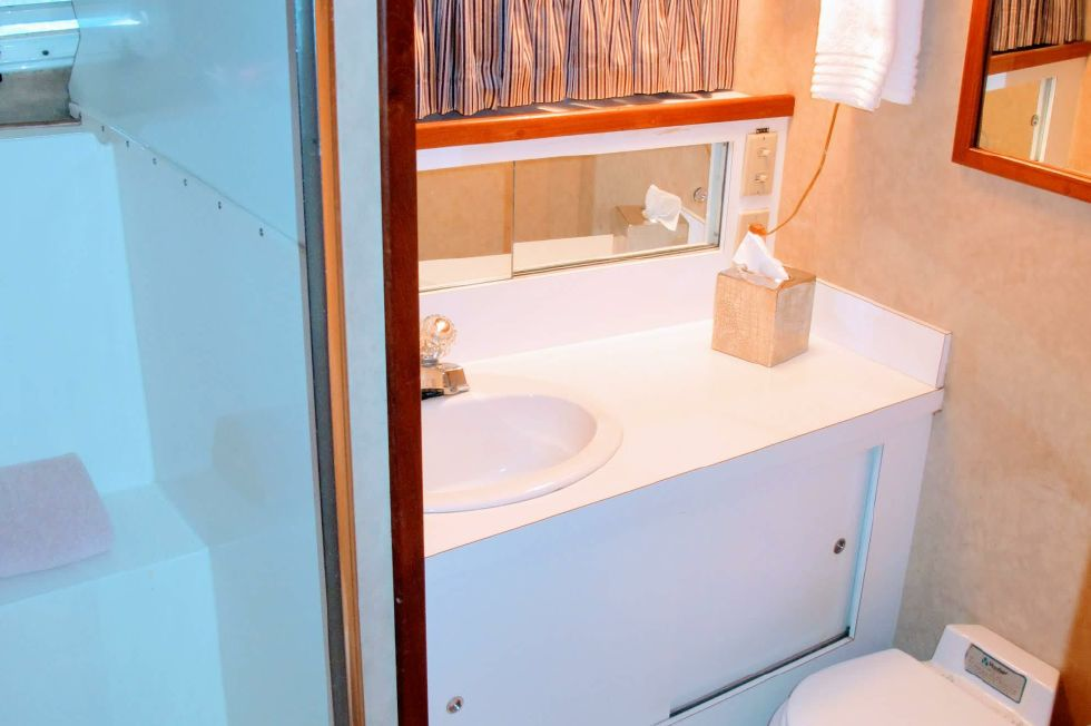 Forward Guest Stateroom Head with Stall Shower