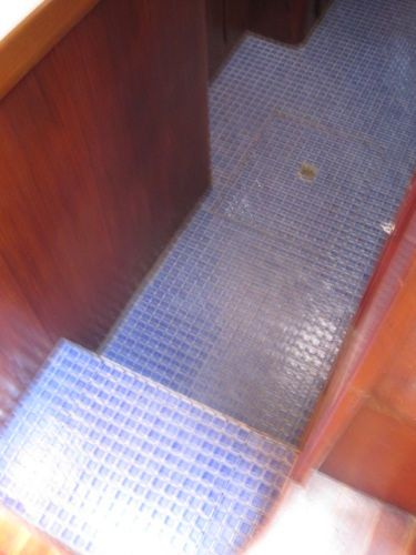 Tiled galley floor