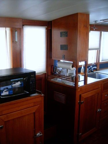 Port side entry, galley refrigeration