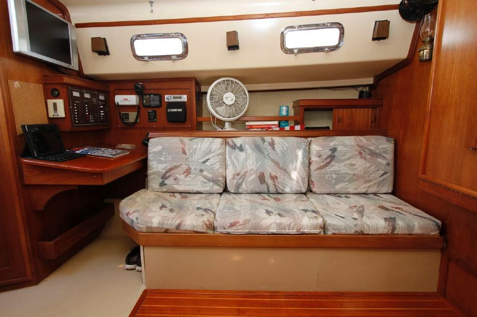 Island Packet 35 port side settee w/Nav Station