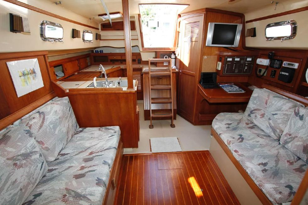 Island Packet 35 Salon looking aft
