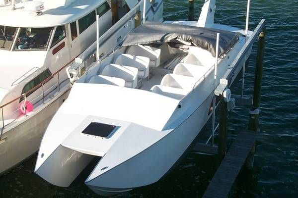 2002 Ocean Cat OC 38 (Commercial Go-Fast) - Top Side Profile