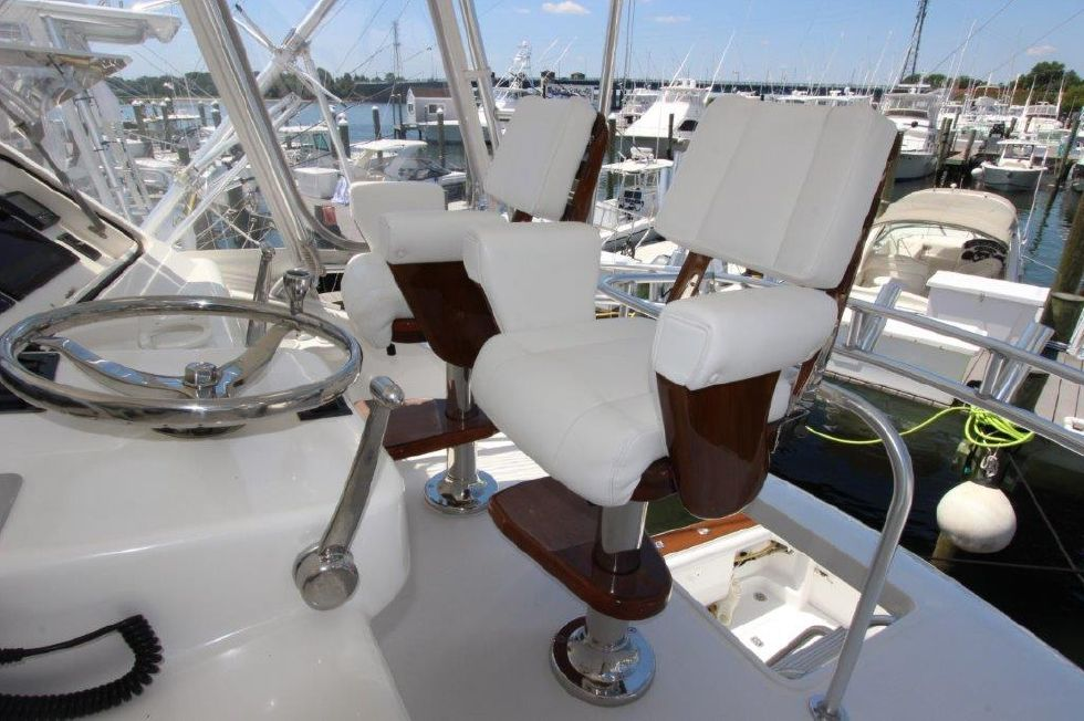 2006 Ocean Yachts 46 Super Sport - Deck 3 - Helm Chairs
