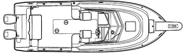 2001 Pursuit 2470 Walkaround - Manufacturer Provided Image: 2470 - deck plan