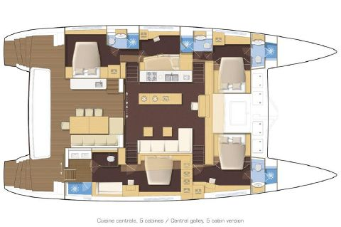 Manufacturer Provided Image: Lagoon 620 5 Cabin Layout Plan