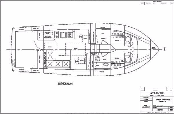 2004 Duffy 37 Flybridge Cruiser - Plans