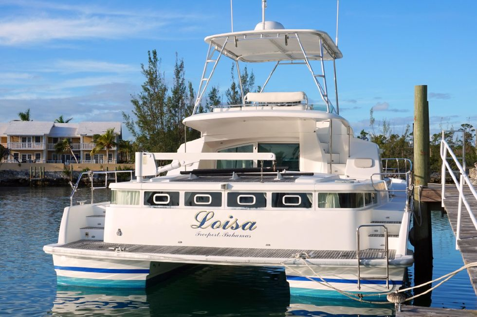Lagoon 43 Power Cat Stern