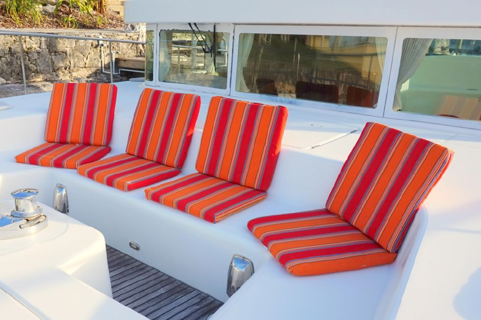 Lagoon 43 Power Cat Bow Seating