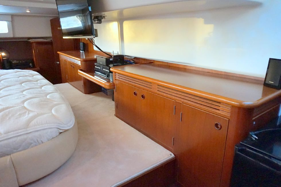 Lagoon 43 Power Cat Owner Stateroom Looking to Port