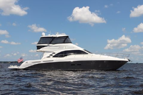 2006 Sea Ray 58 Sedan Bridge - Starboard profile