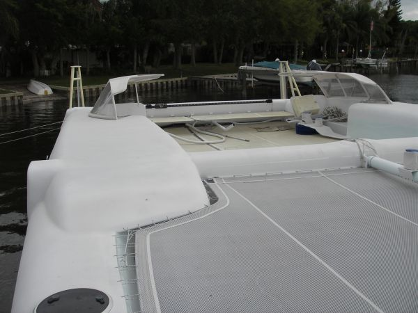 2011 Custom Catamaran - Aft Deck View
