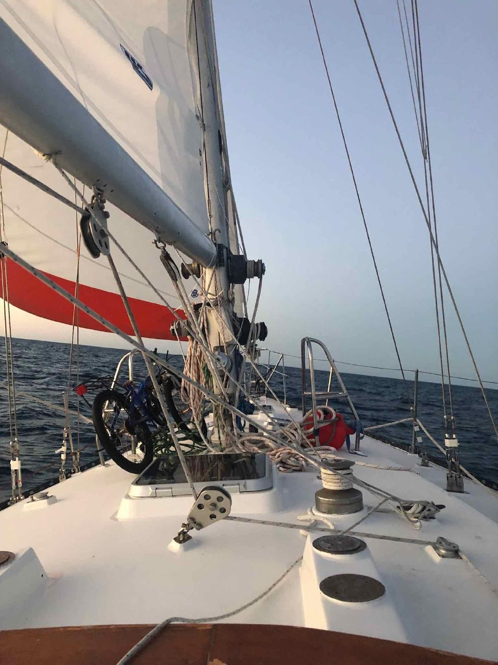 1986 Kaufman Cutter - Under Sail Enroute to Bahamas May 2019