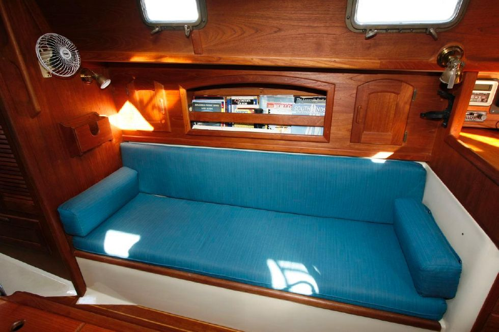 1991 Pacific Seacraft Crealock 34 - Settee, New Upholstery