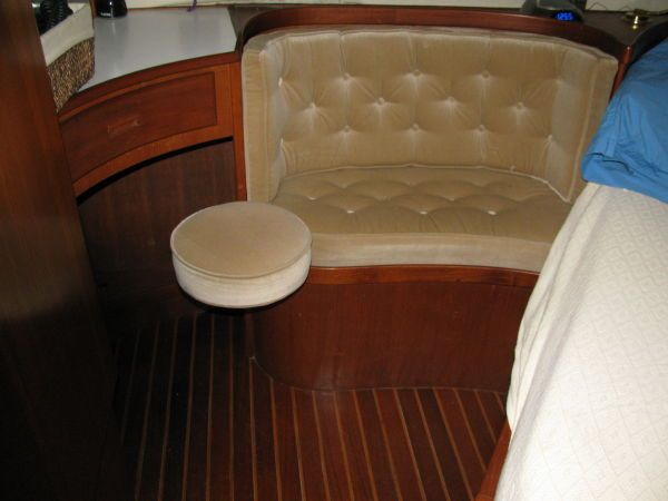 Master vanity with seat and settee