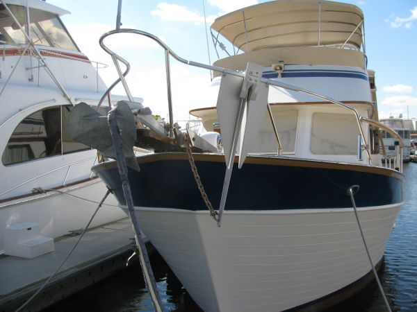 Bow view with new bimini canvas