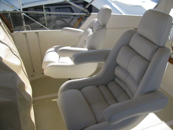 Captain and mate helm chairs