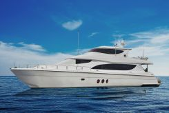 2005 Hatteras Enclosed Flybridge with Euro Transom