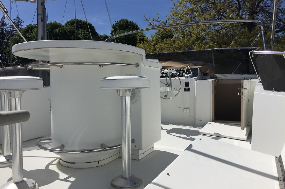 1991 Hatteras Cockpit Motor Yacht - View from Aft