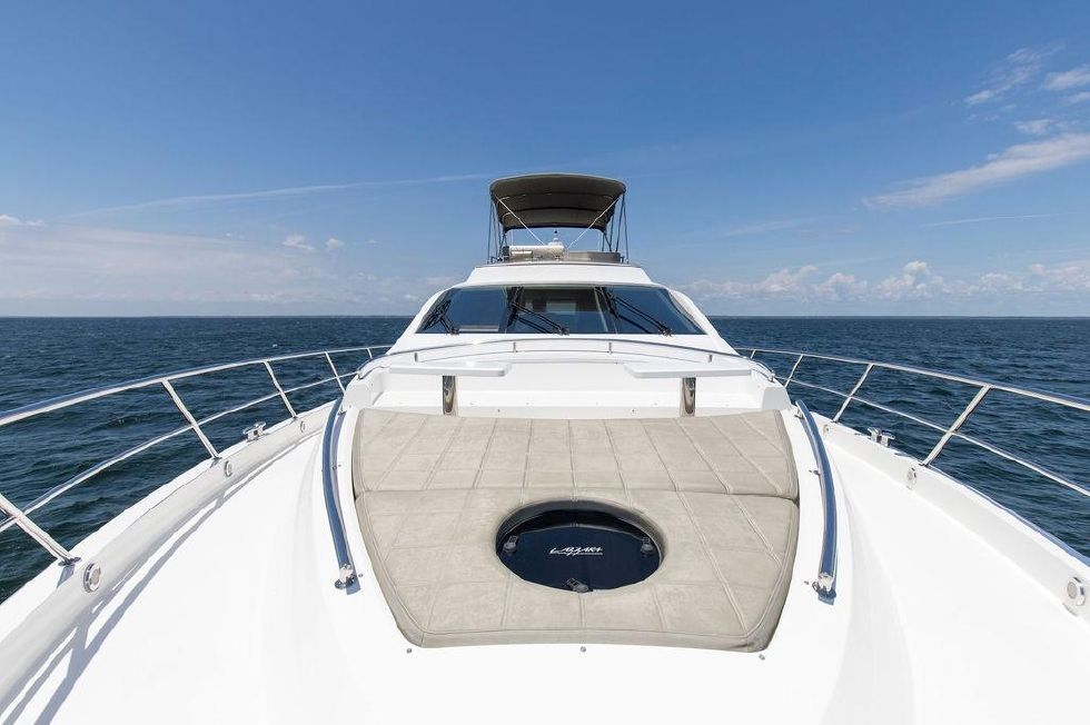 2010 Lazzara 78 LSX - Bow Looking Aft