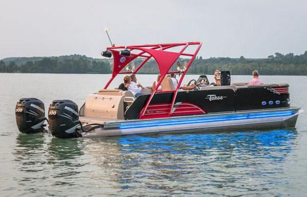 2018 Tahoe Pontoon Vision Rear J Lounge - 27'