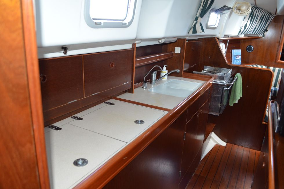 Beneteau 36 CC Galley Counter Space