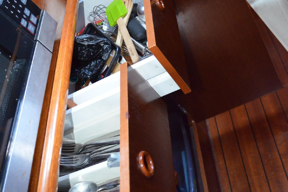 Beneteau 36 CC Galley Preparation Cabinet Stowage