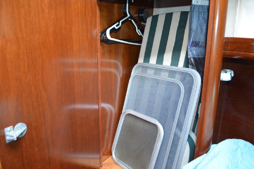 Beneteau 36 CC Forward Berth Port Closet Open
