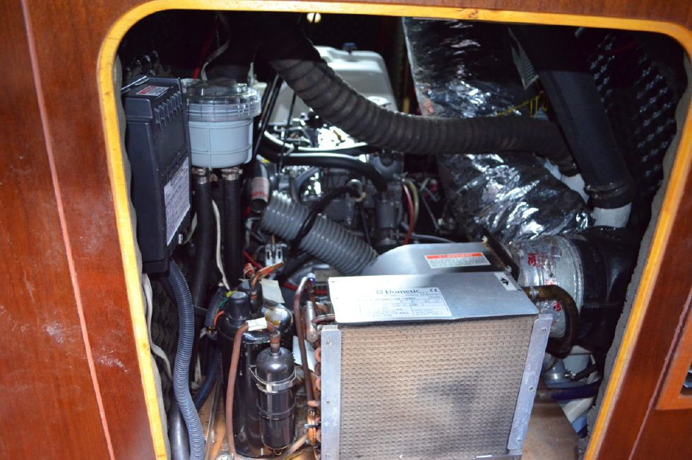 Beneteau 36 CC Engine Compartment from Master Stateroom