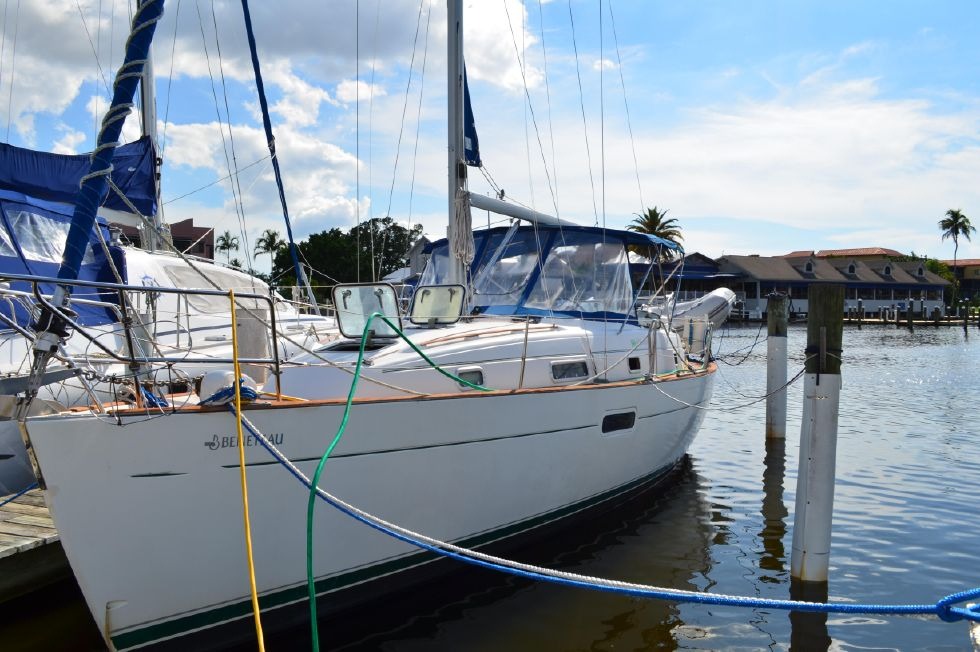 Beneteau 36 CC At the Dock Port Bow Quartering