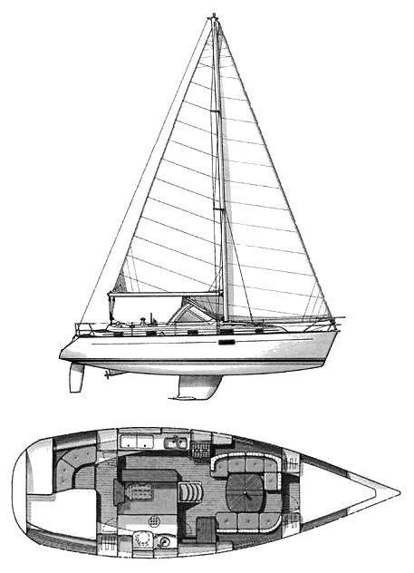 Beneteau 36 CC Line Drawing