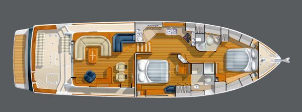 Sabre 52' Layout (Modifications to Salon not Represented)