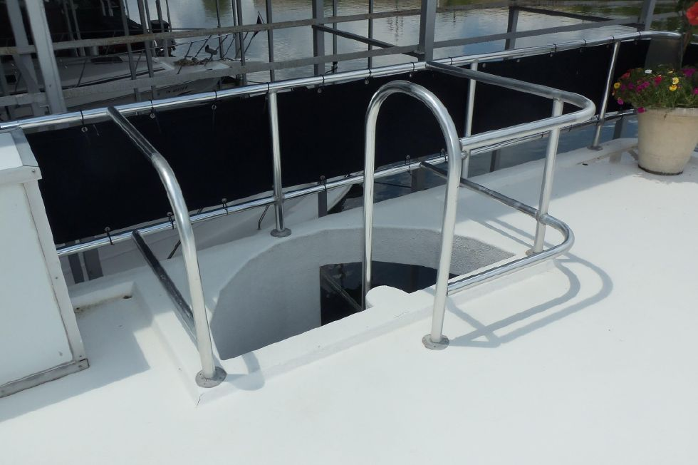 Aft Stairway from Upper Deck to Aft Deck