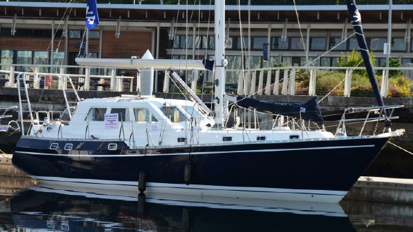 Tayana T-46 Pilothouse At Our Sales Dock!