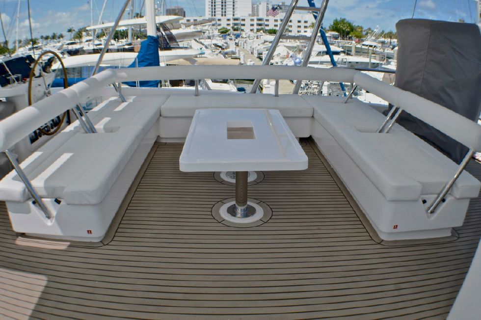 2018 Leopard 58 - Flybridge seating