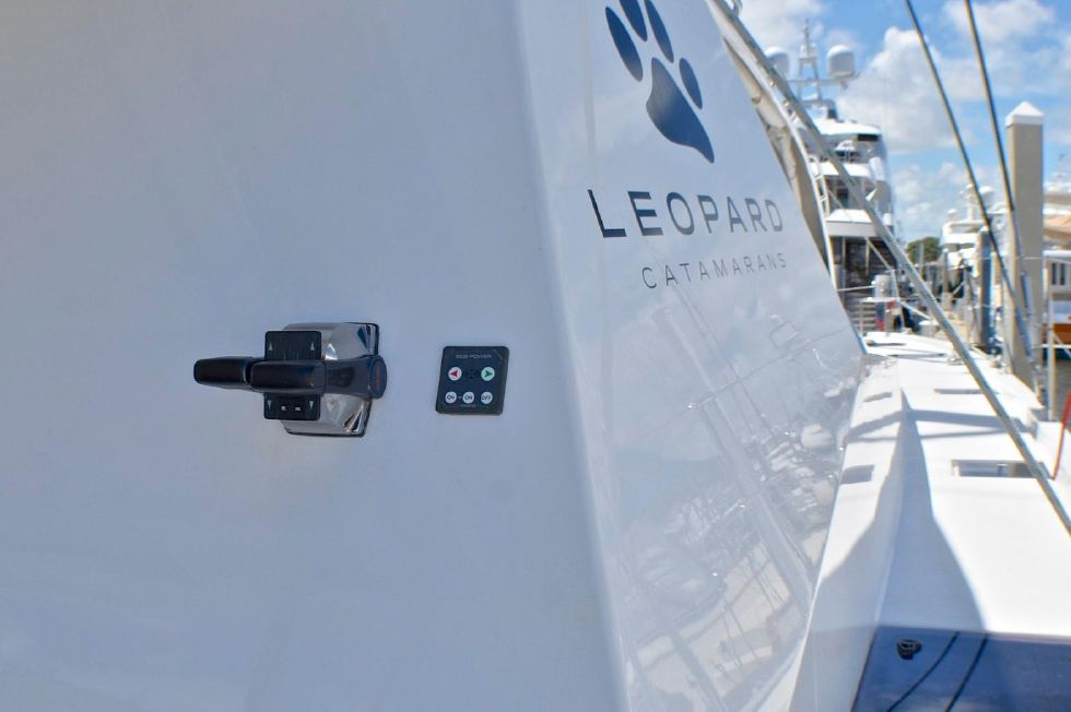2018 Leopard 58 - Starboard Deck with aft docking controls