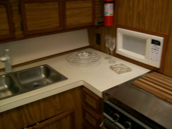 1979 Viking Motor Yacht EXTRA CLEAN!!! - Sink and Microwave
