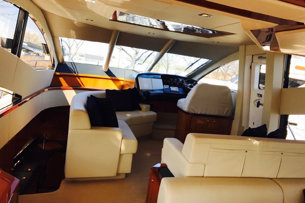 2011 Sunseeker Manhattan 60 - Interior Looking Forward
