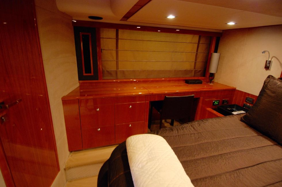 2011 Sunseeker Manhattan 60 - Master Stateroom Starboard Side Storage