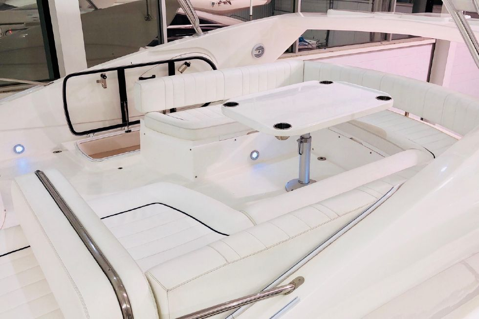 2011 Sunseeker Manhattan 60 - Flybridge Aft Seating Area - Uncovered