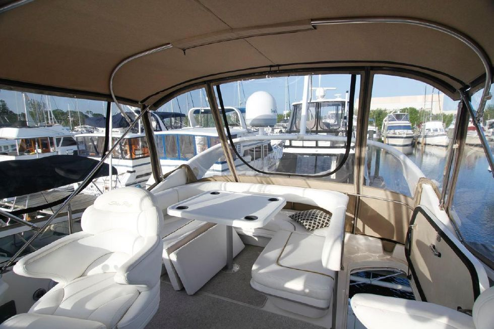 40 Sea Ray Sedan Bridge New Bimini and Stratoglas Panels