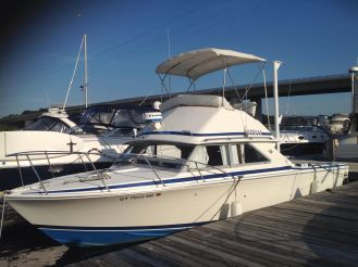 1984 Bertram 28 Flybridge New Engines