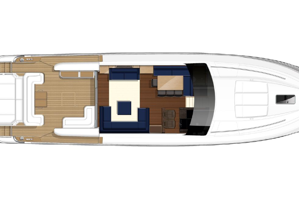 2013 Princess V78 - Manufacturer Provided Image: Princess V78 Deck Layout