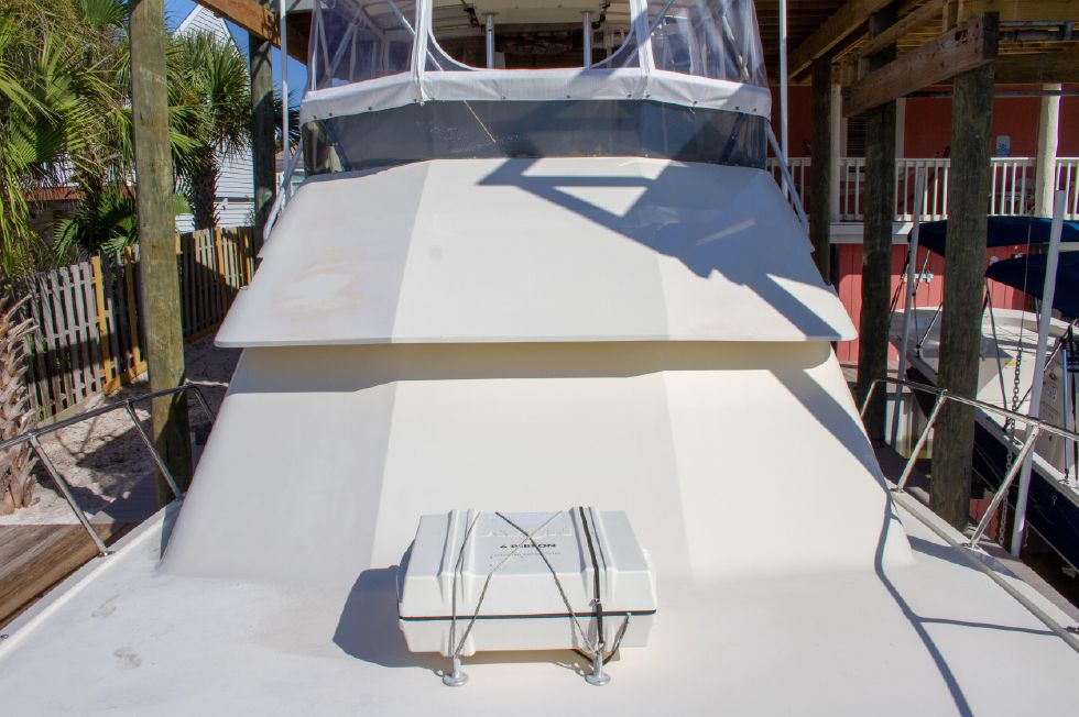 1987 Hatteras 1987 41 Convertible - Bow Looking Aft