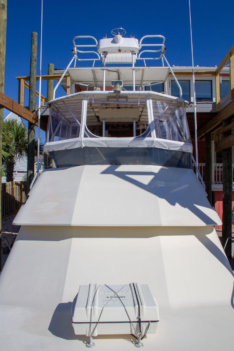 1987 Hatteras 1987 41 Convertible - Looking Aft At Tower