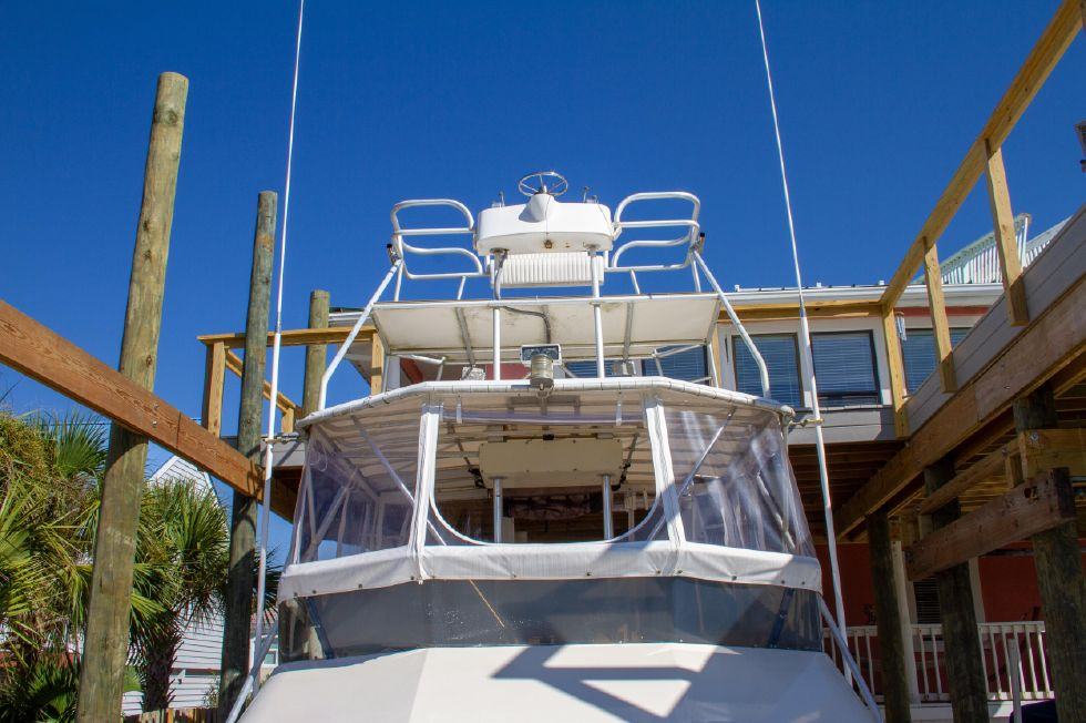 1987 Hatteras 1987 41 Convertible - Tower With Controls
