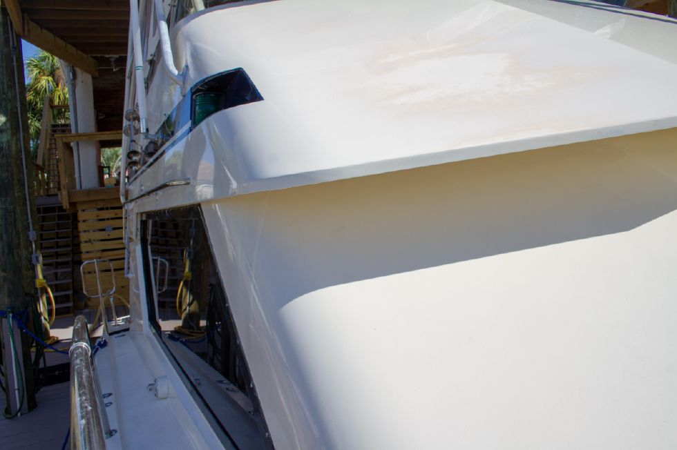 1987 Hatteras 1987 41 Convertible - Starboard Side Looking Aft